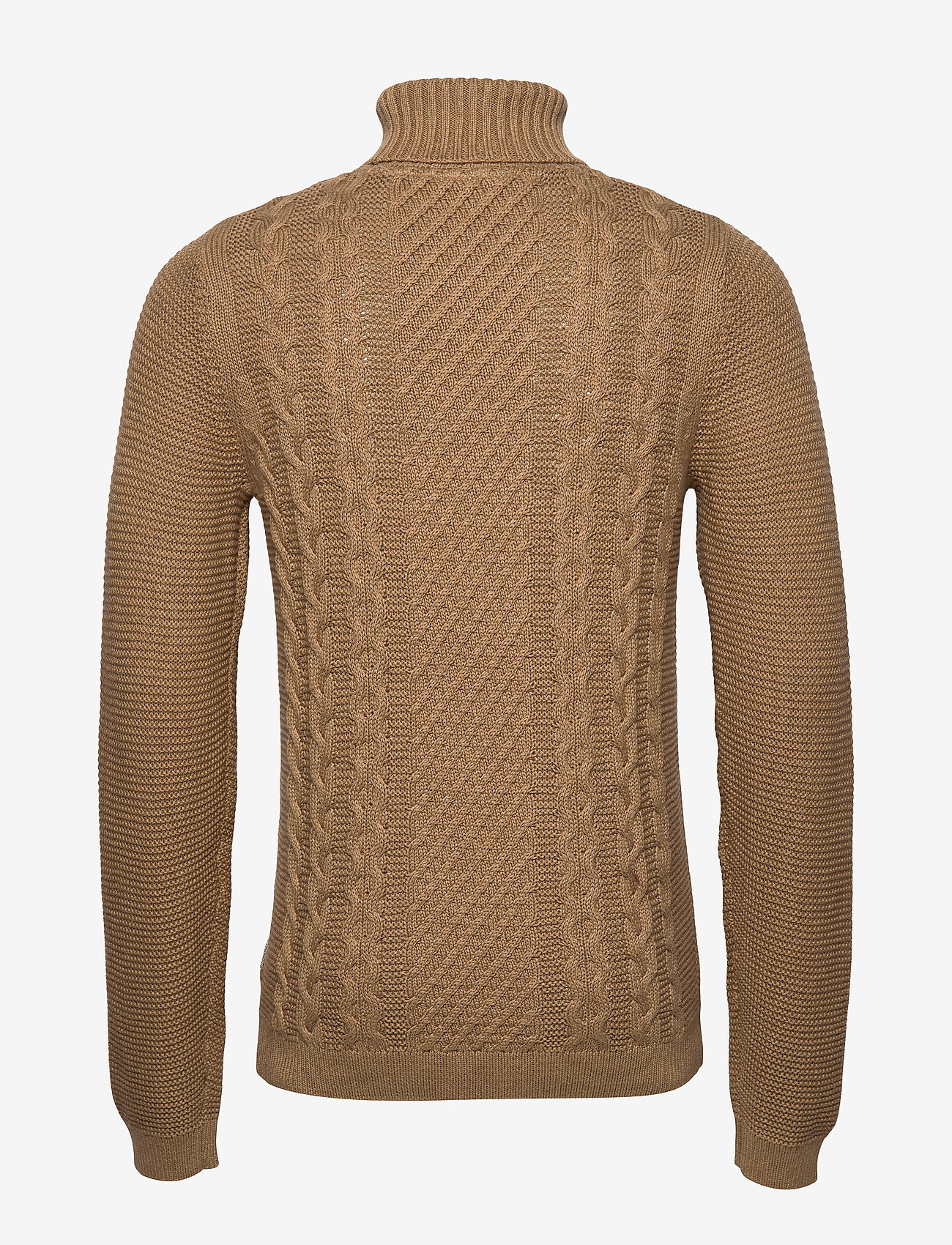Lindbergh Cable Knit W. Roll Neck - Knitwear