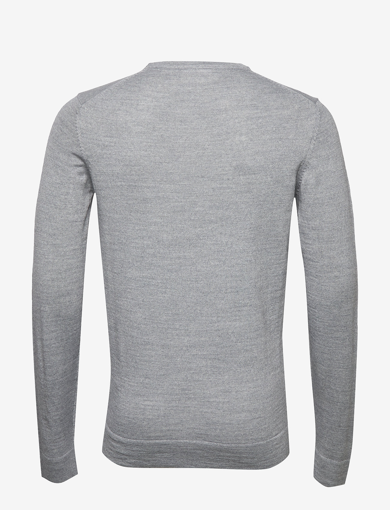 Lindbergh - Merino knit o-neck - perusneuleet - lt grey mix - 1