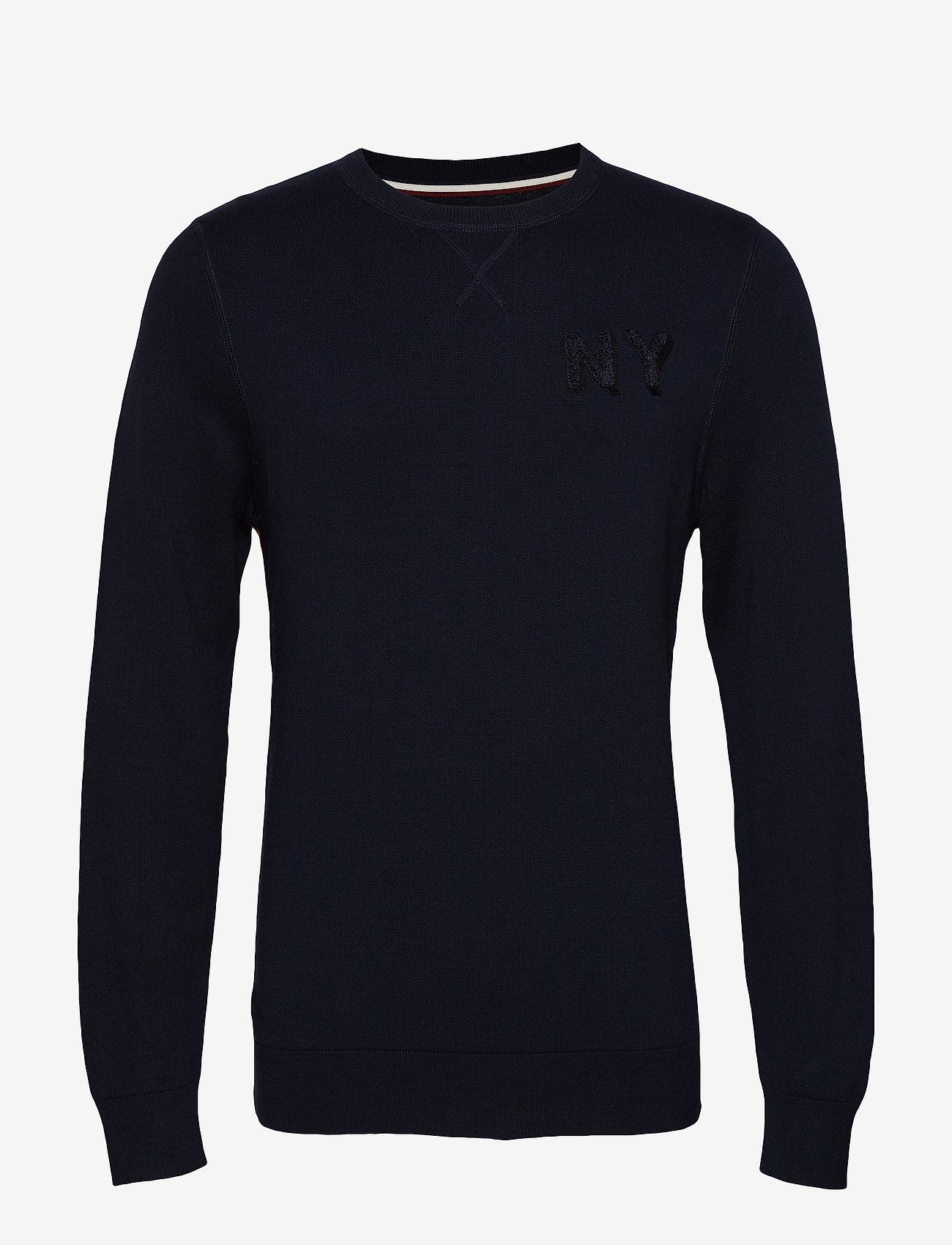 Lindbergh - Signature knit - tricots basiques - navy - 1