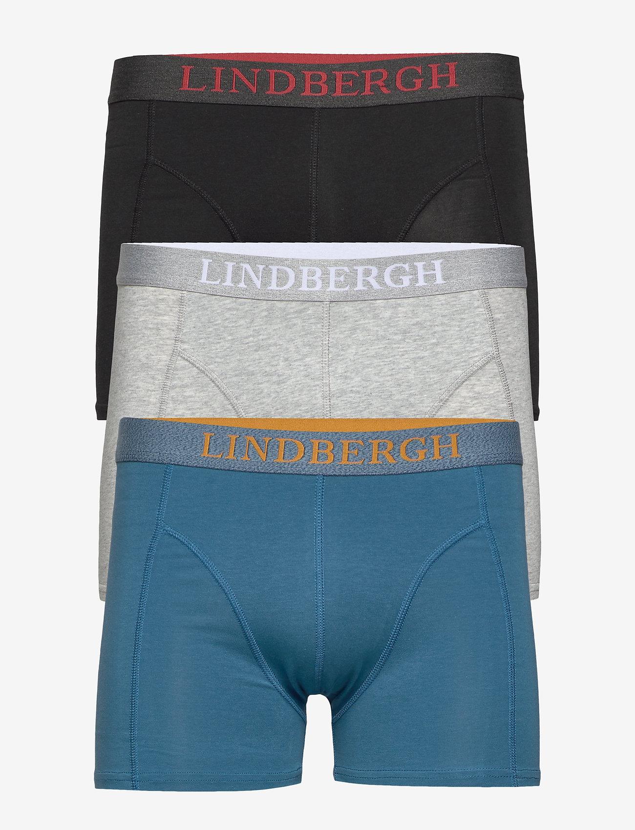 Lindbergh - Basic bamboo boxers 3 pack - underwear - mixed