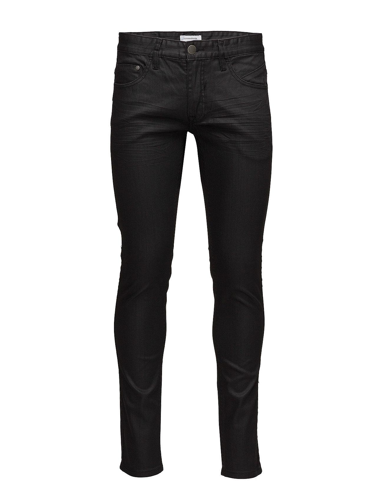 Lindbergh Mens 5 pocket stretch jeans - BLACK