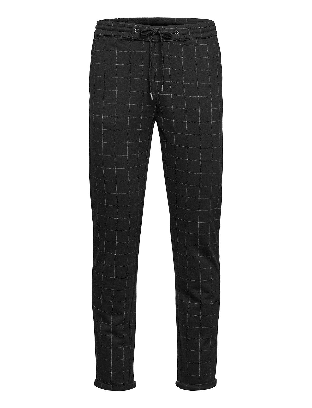 Club Pants With Elastic Waist Casual Bukser Sort Lindbergh