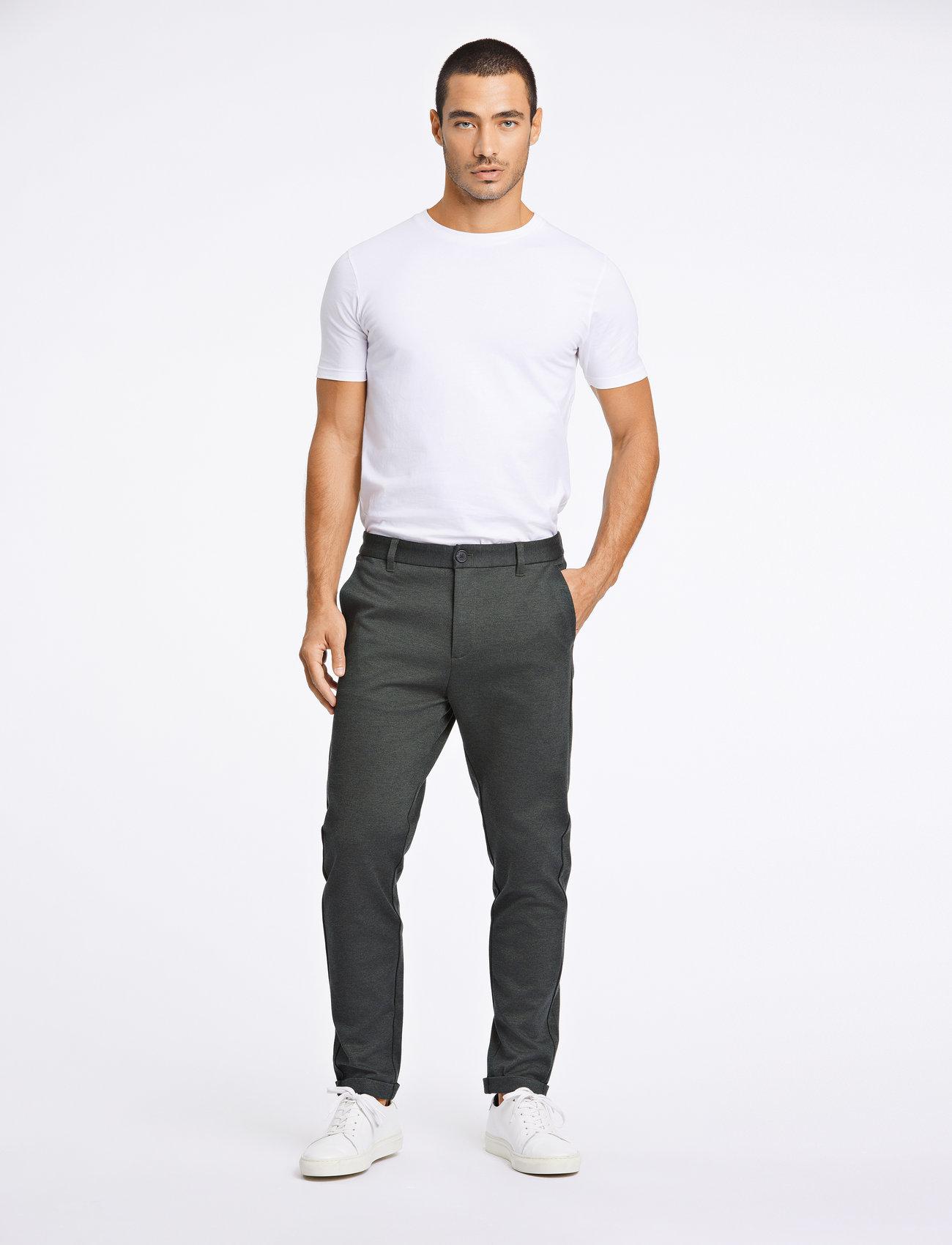 Lindbergh - Superflex knitted cropped pant - puvunhousut - army mix - 0