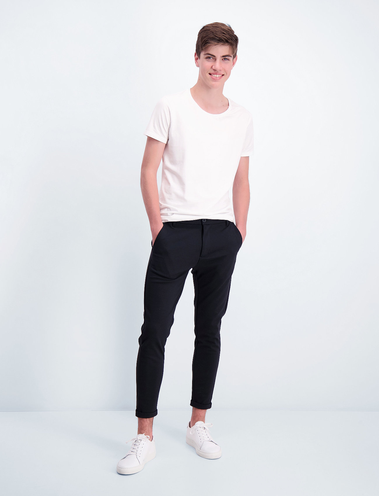 Lindbergh - Superflex knitted cropped pant - puvunhousut - black - 0