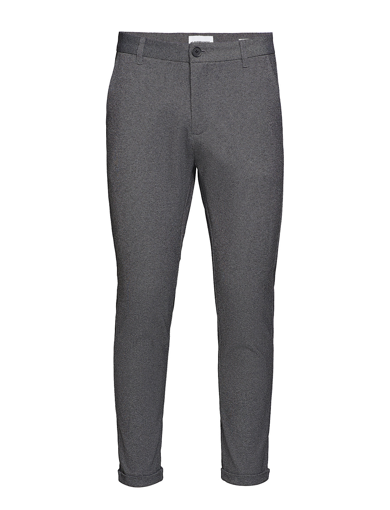 Lindbergh Knitted cropped pants - GREY MIX