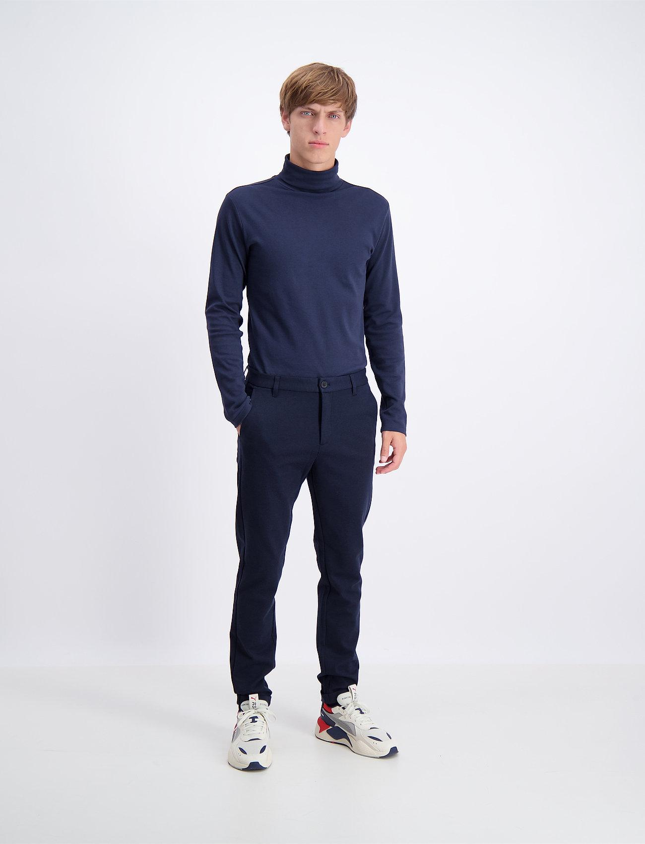 Lindbergh - Knitted pants normal length - spodnie na co dzień - navy mix - 0