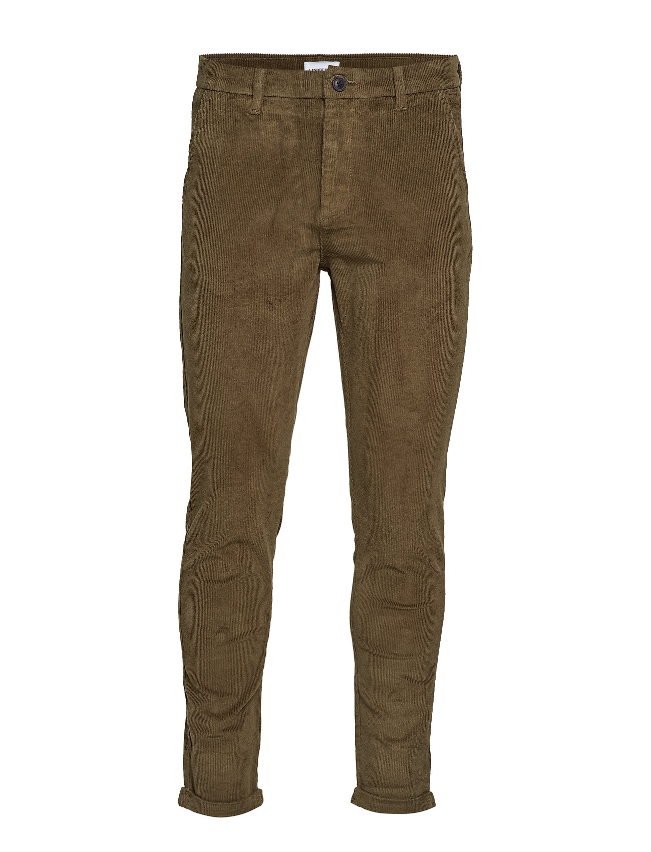 Lindbergh Cropped corduroy pants - ARMY