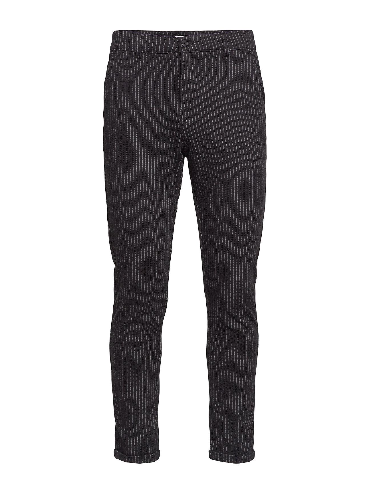 Lindbergh Chino pants with elastic waist - BLACK MIX