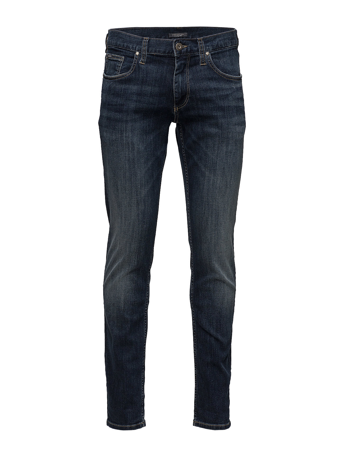 Lindbergh Tapered fit jeans raw aged blu - RAW AGED BLUE