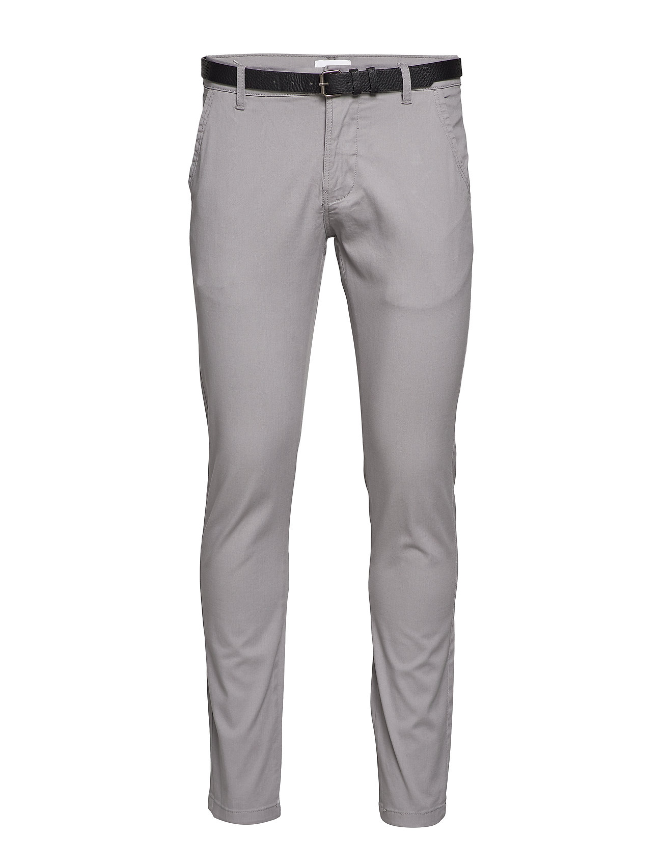 Lindbergh Classic stretch chino W. belt - SILVER