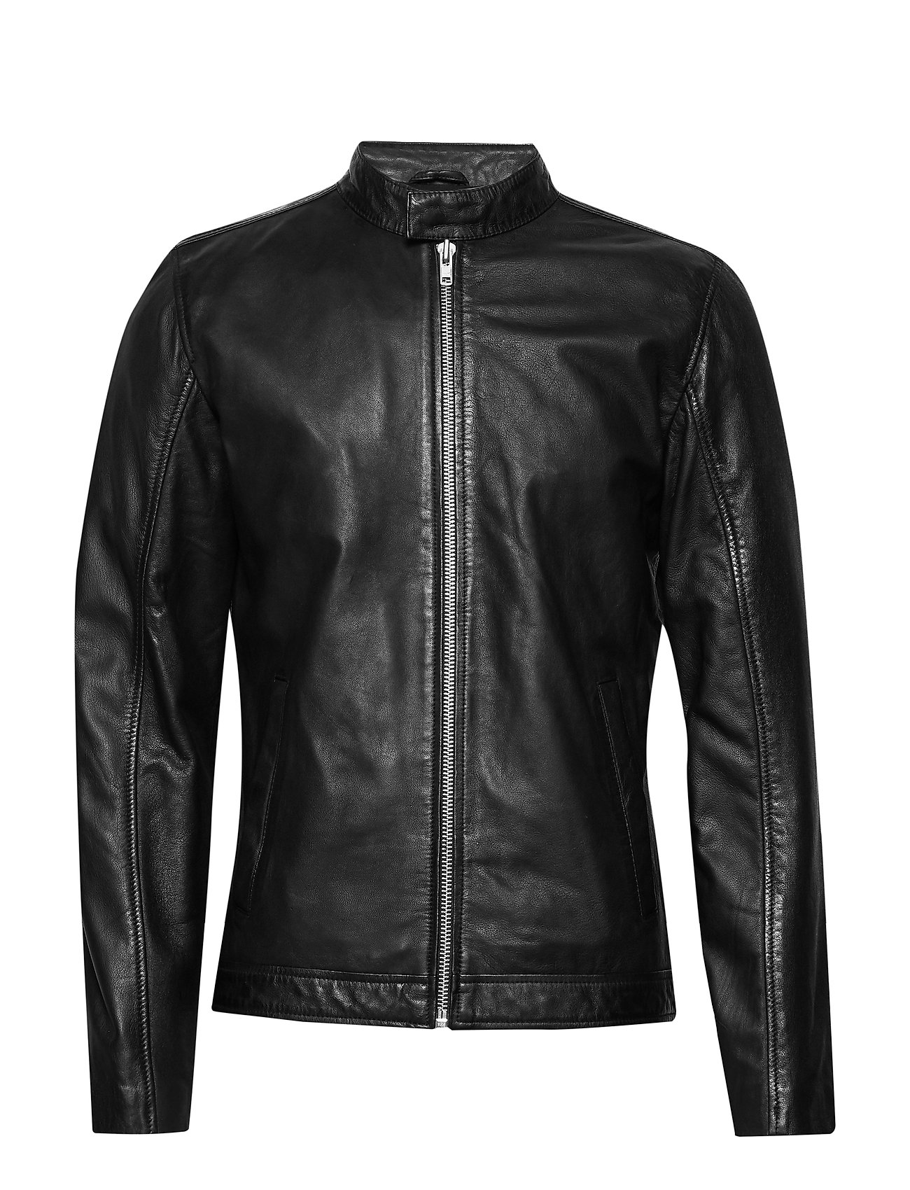 Image of Leather Jacket Læderjakke Skindjakke Sort Lindbergh (3500159829)