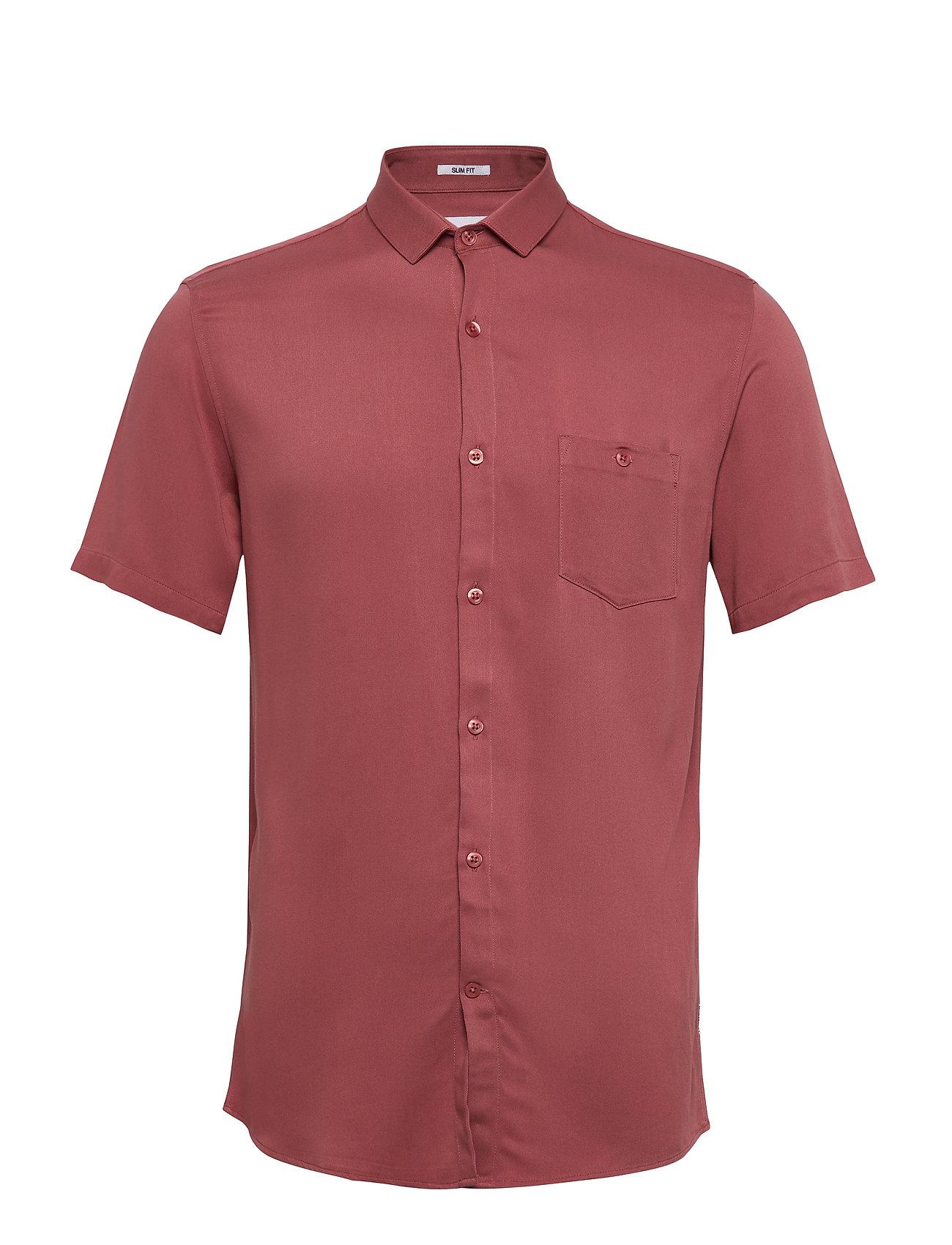 Lindbergh Viscose shirt S/S - ROSE
