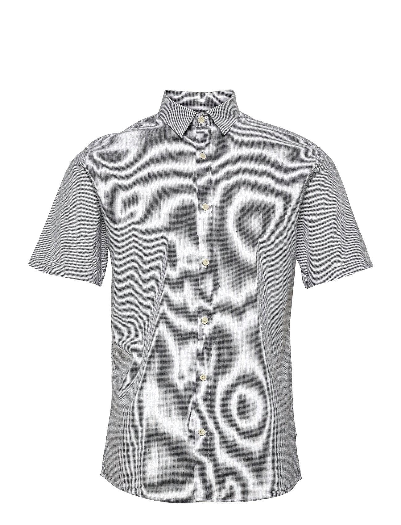 Linen Shirt S/S Kortærmet Skjorte Blå Lindbergh