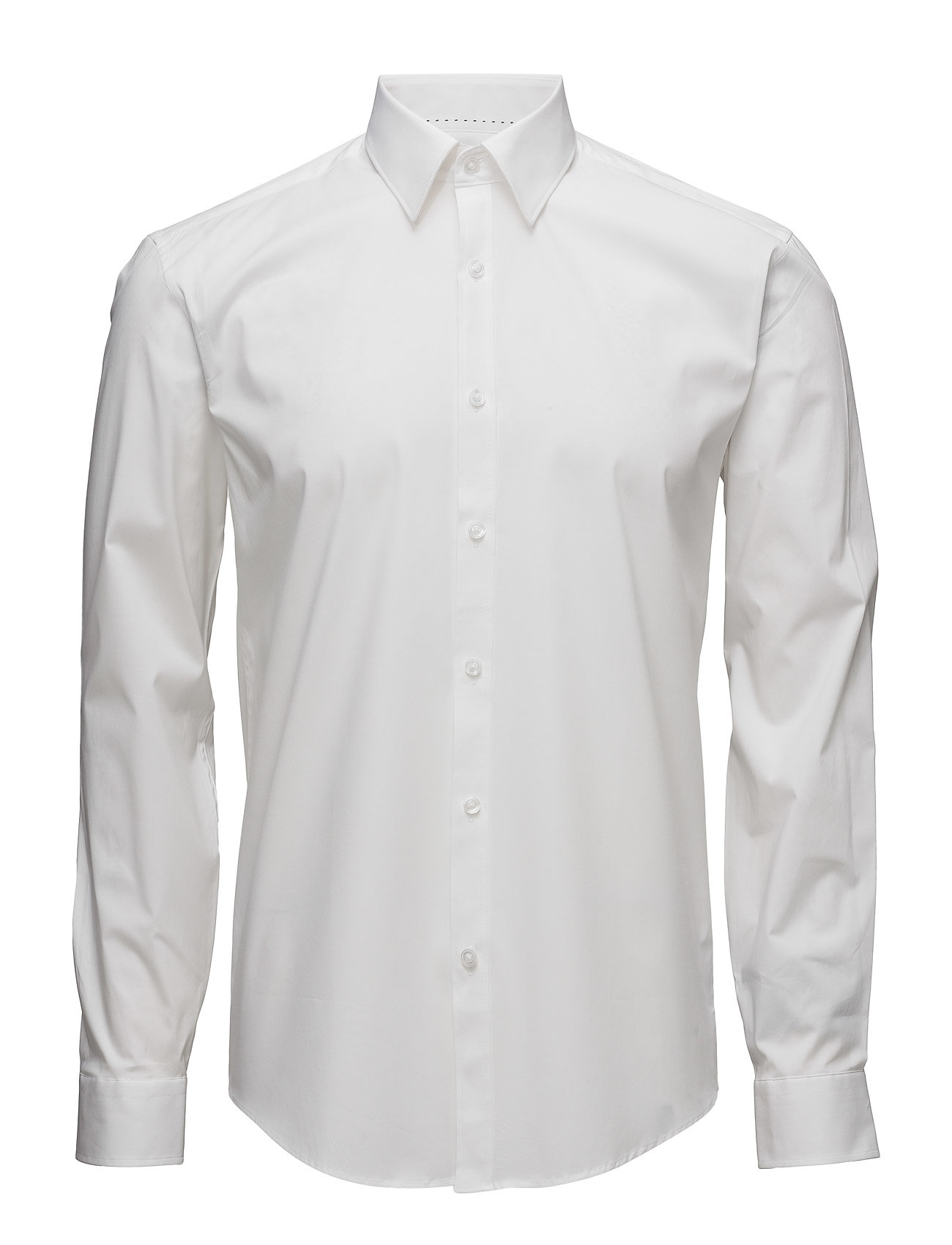 Lindbergh Men's Stretch Shirt L/S - WHITE
