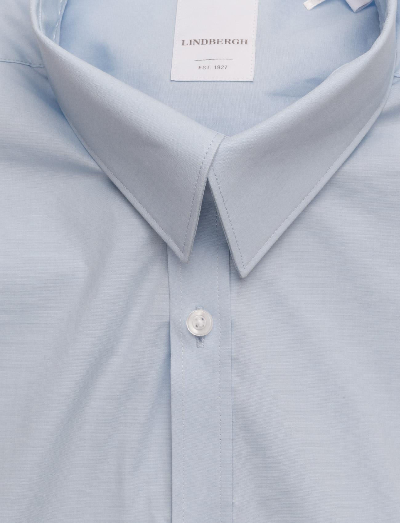 Lindbergh Men's Stretch Shirt L/S - Skjorter LT BLUE - Menn Klær