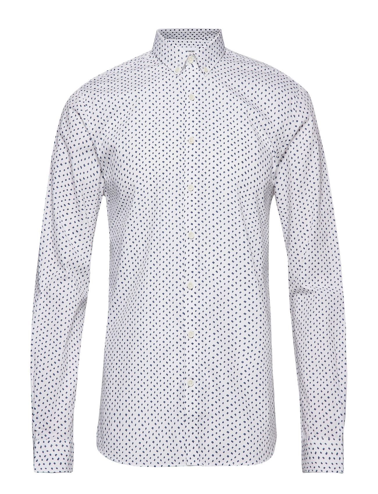 Lindbergh Printed shirt L/S - WHITE
