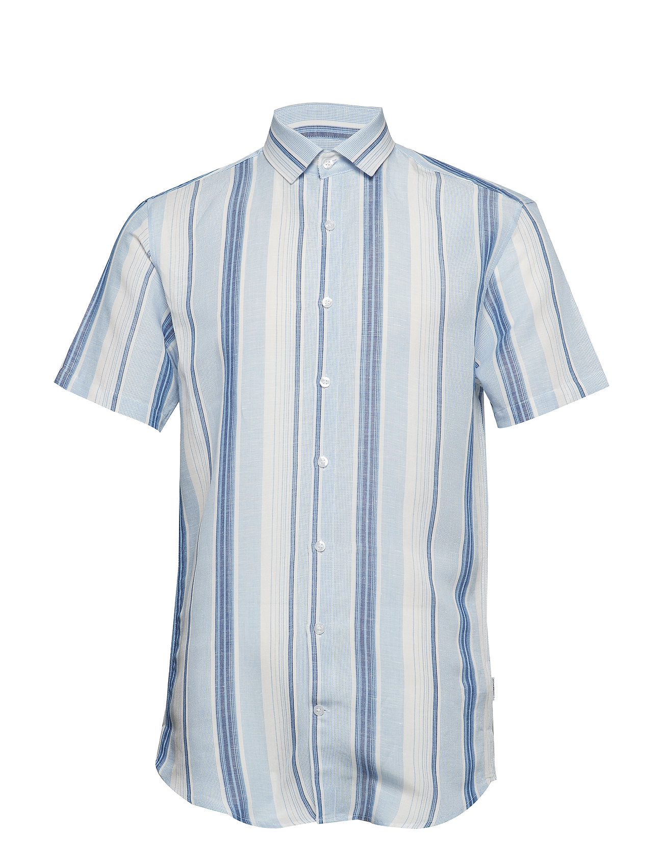 Lindbergh Striped shirt S/S - BLUE