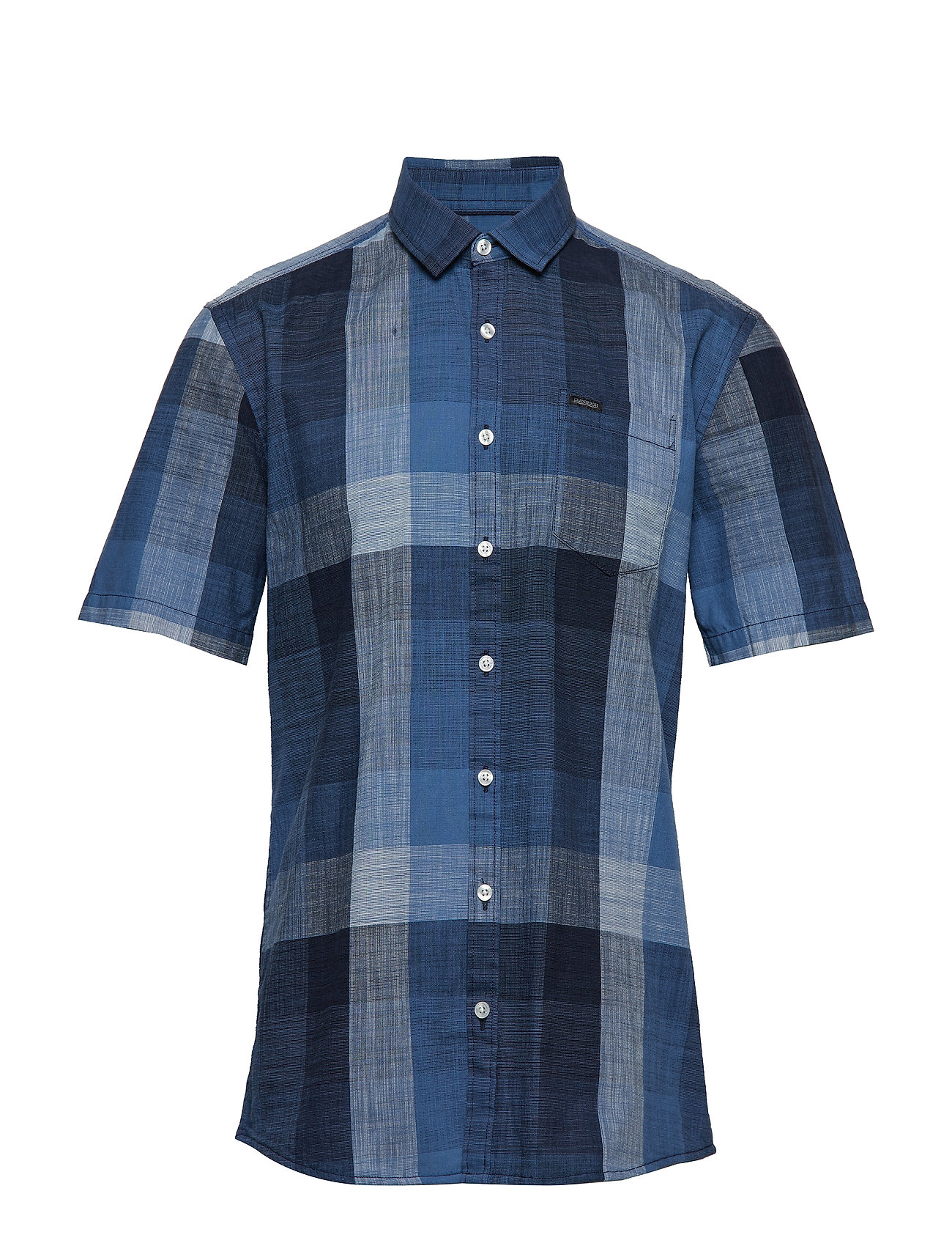Lindbergh Check shirt S/S - BLUE