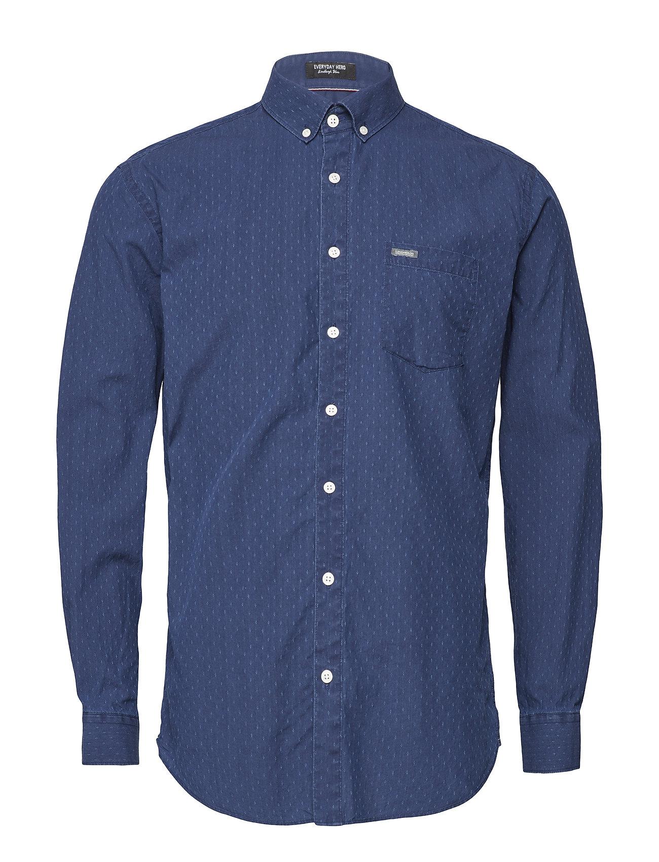 Lindbergh Ditsy jacquard L S shirt Ögrönlar