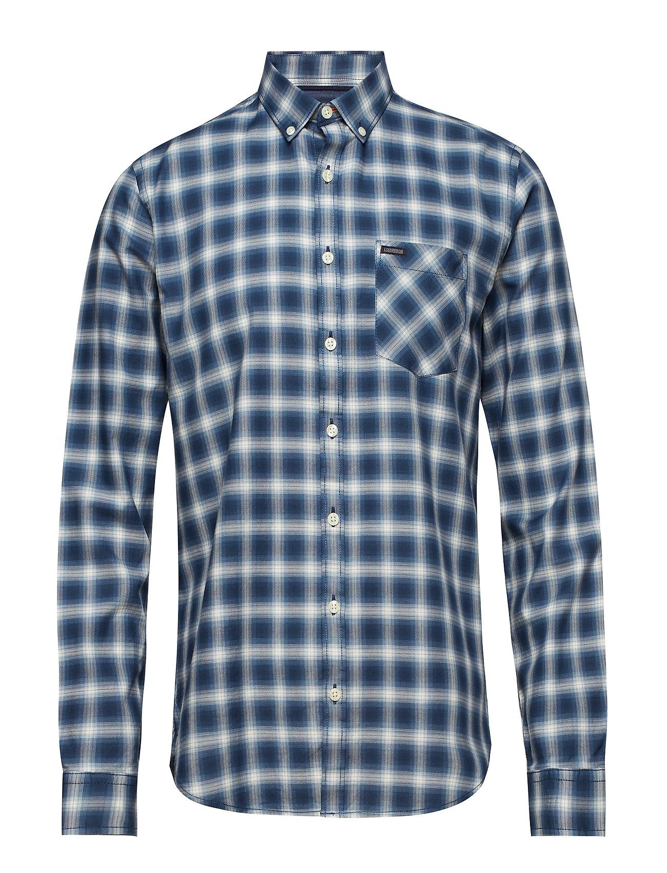 Lindbergh Check shirt L/S - BLUE