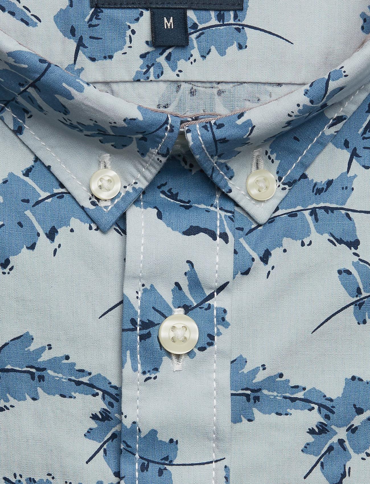 Lindbergh Aop Shirt L/s - Skjorter Light Blue