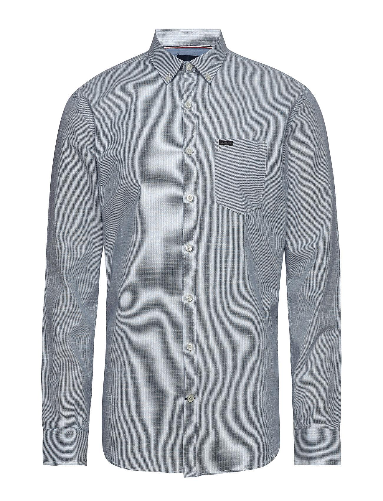 Lindbergh Pinstripe L/S shirt - LIGHT BLUE