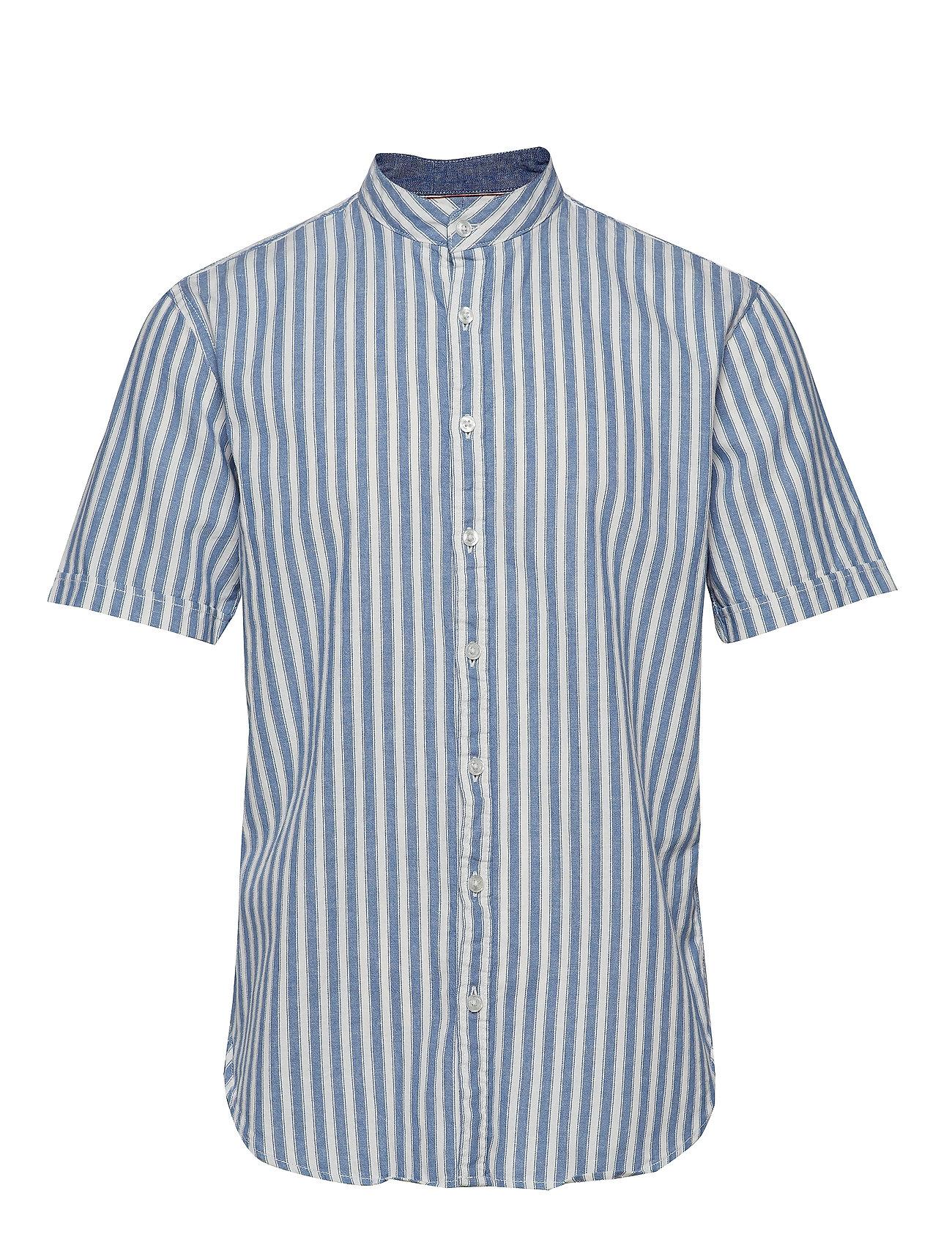 Lindbergh Cotton/linen striped shirt S/S