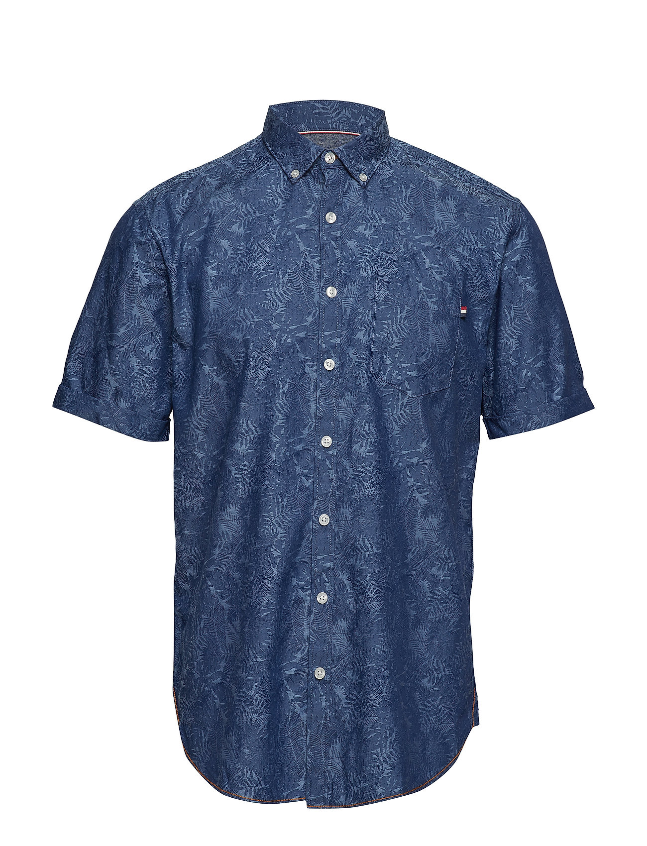 Lindbergh Jacquard shirt S/S - BLUE
