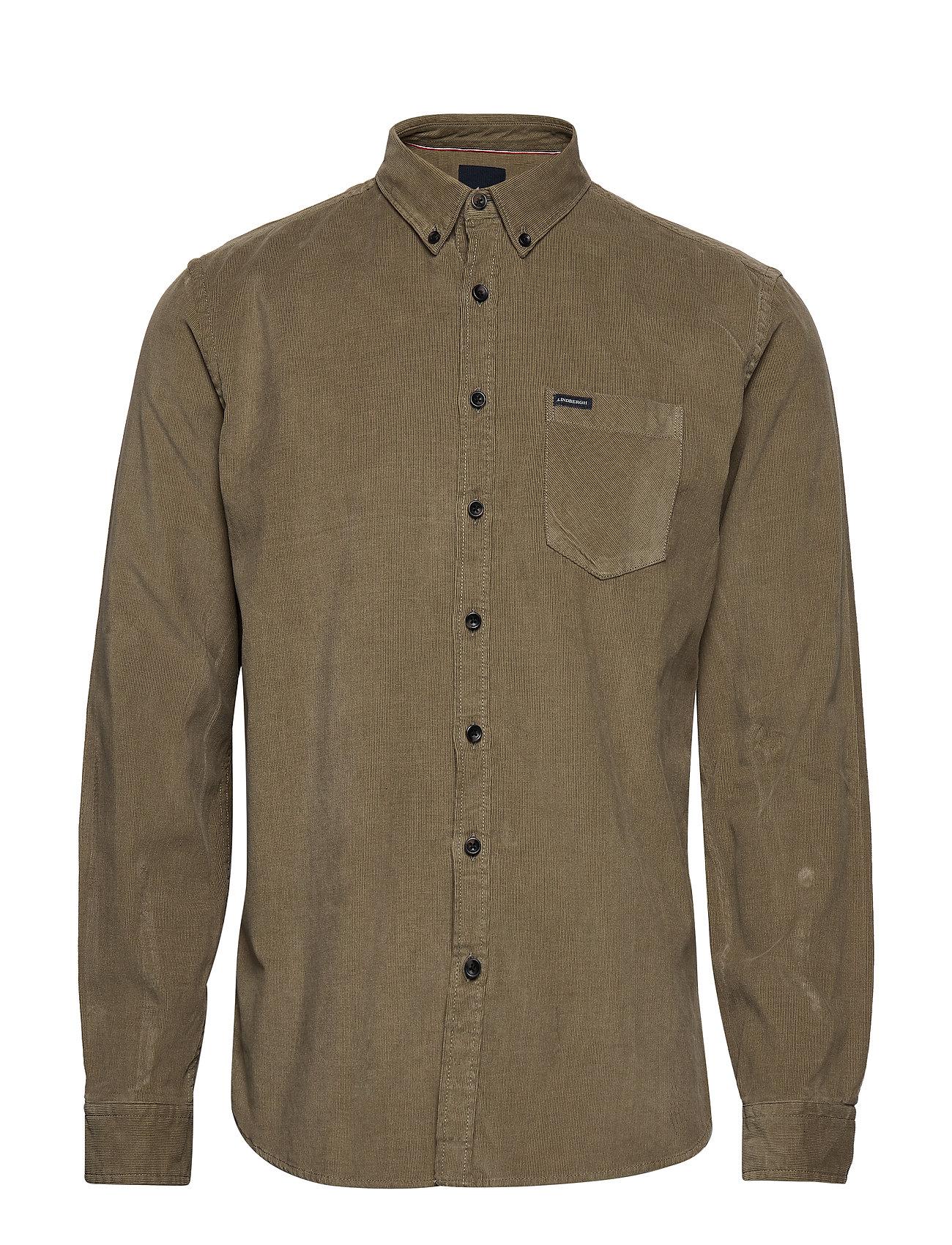Lindbergh Corduroy L/S shirt - DARK SAND