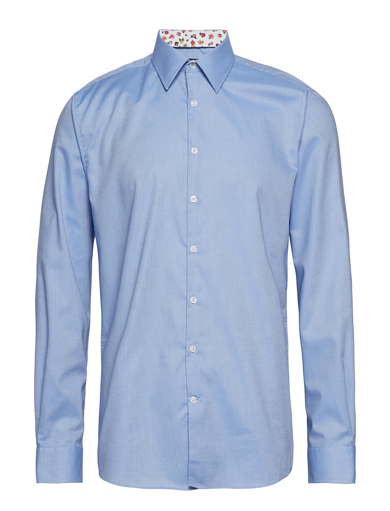 Lindbergh Structure shirt w contrast L/S - LIGHT BLUE