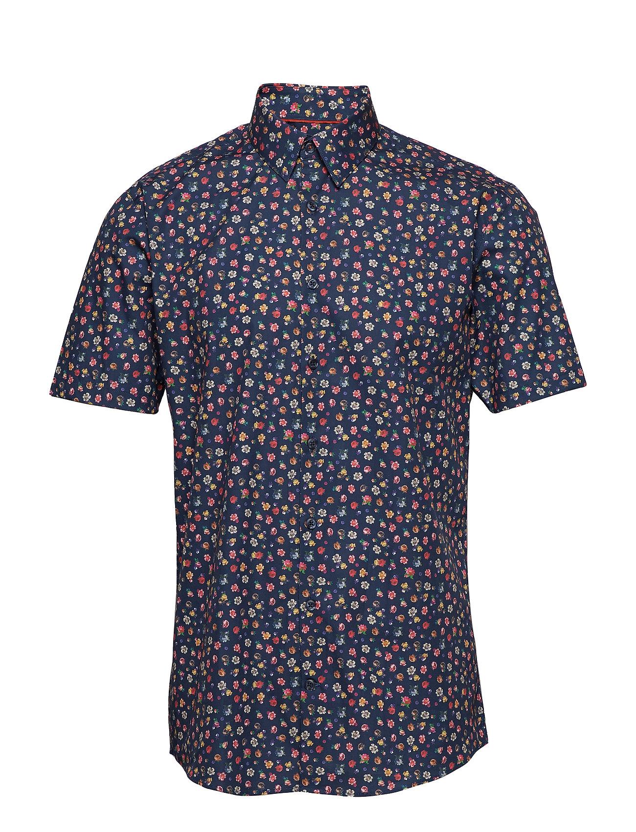 Lindbergh Mini floral AOP shirt S/S - BLUE