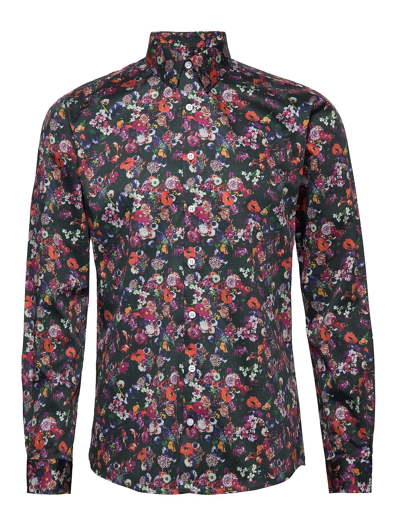 Lindbergh AOP shirt L/S - NAVY