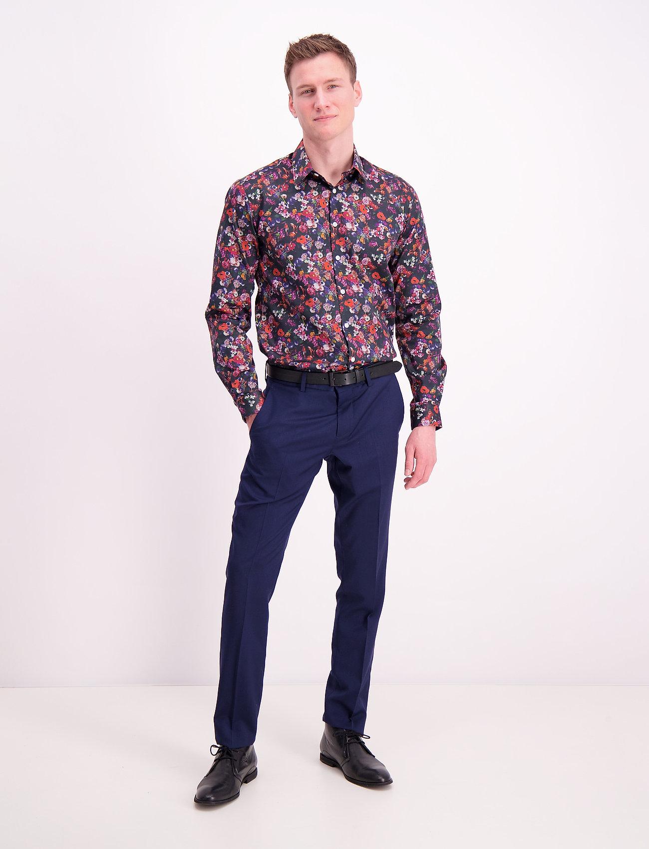 Lindbergh - AOP shirt L/S - chemises décontractées - navy - 0
