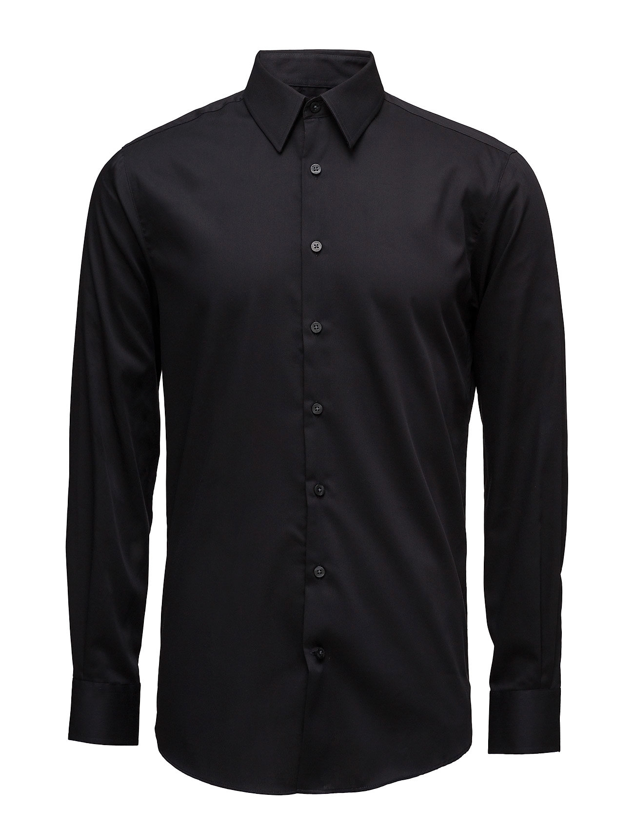 Lindbergh Basic Shirt L/S - BLACK
