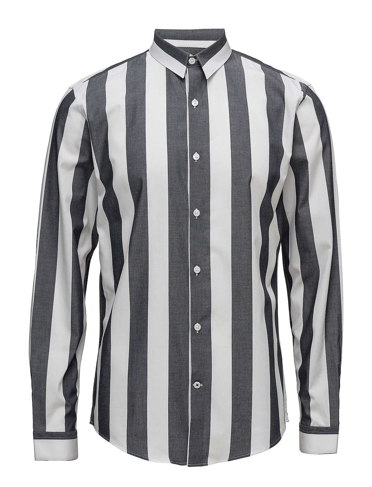Lindbergh Wide striped shirt L/S