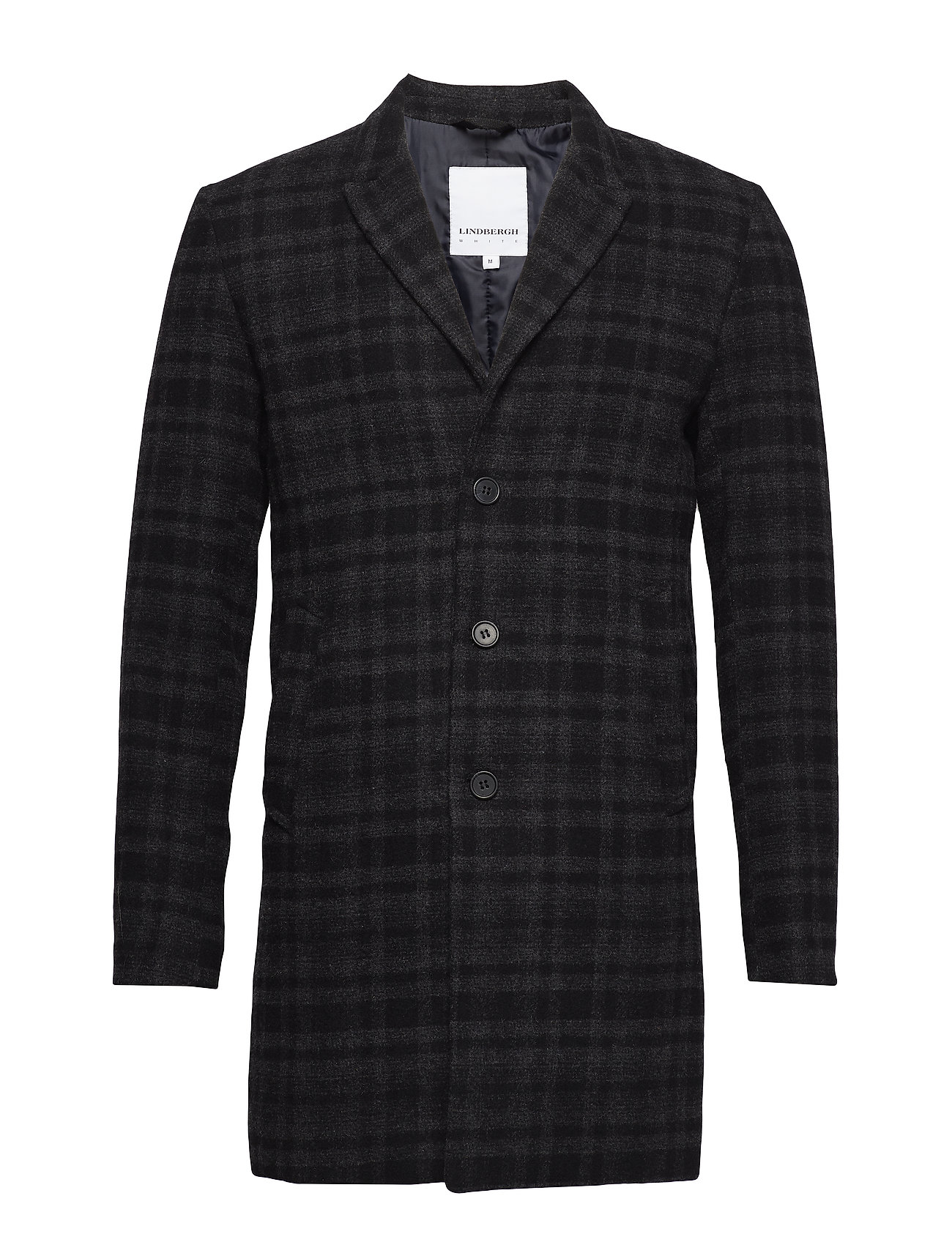 Lindbergh Checked wool coat Ytterkläder