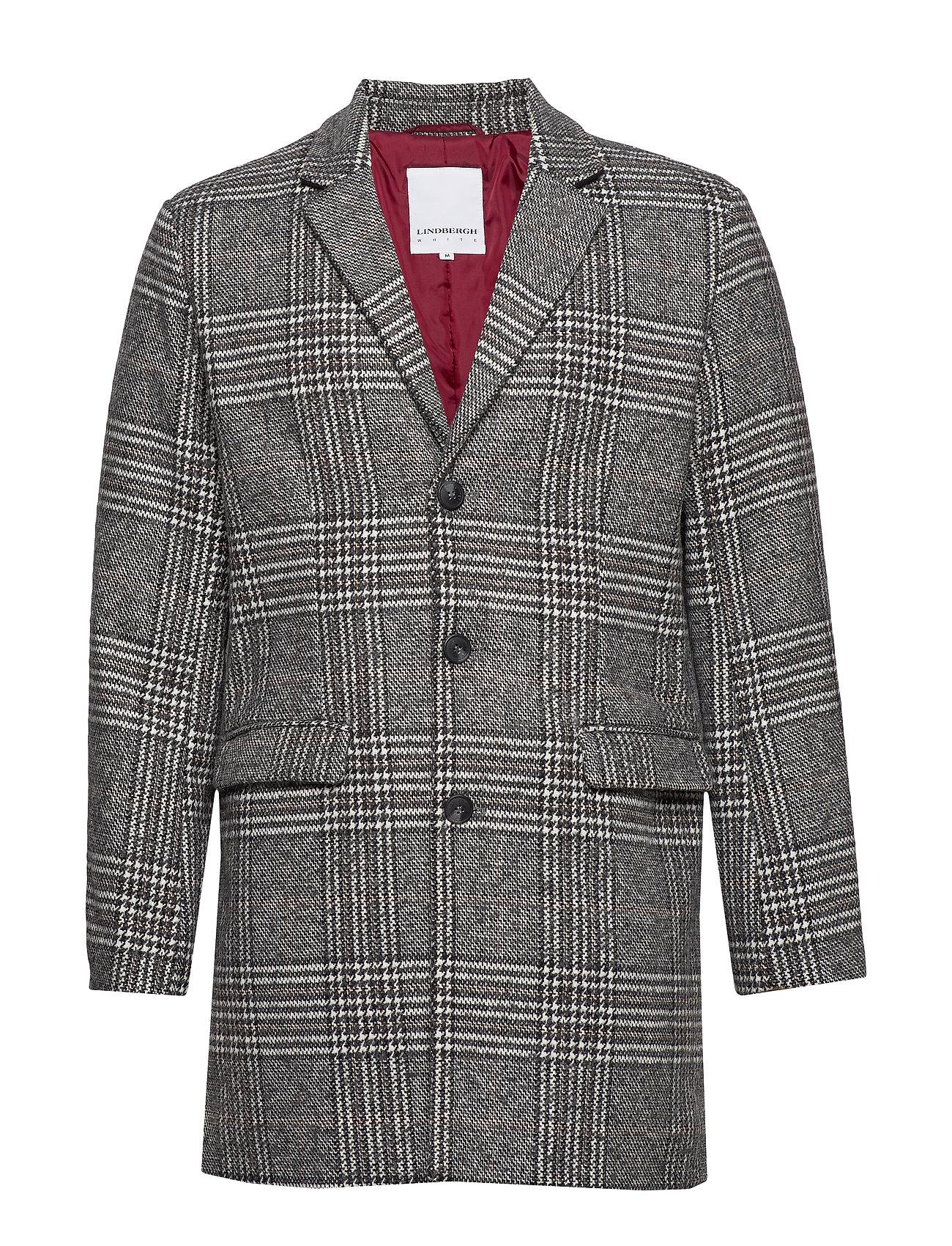 Lindbergh Checked coat - GREY CHECK