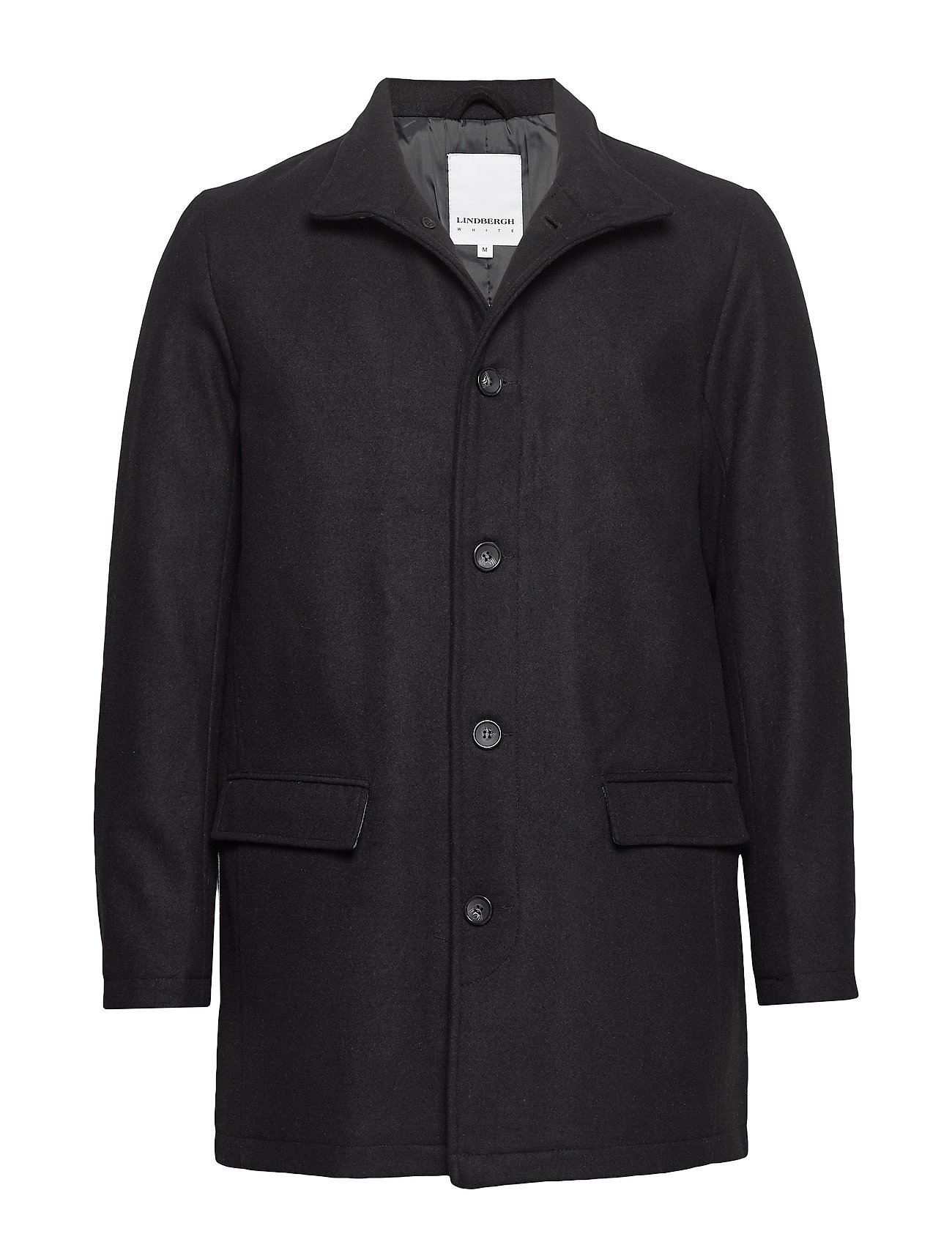 Lindbergh Coat w stand up collar - BLACK