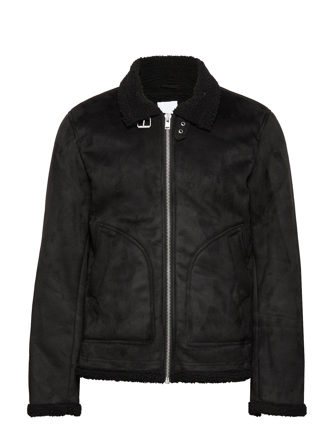 Lindbergh Fake shearling jacket - BLACK