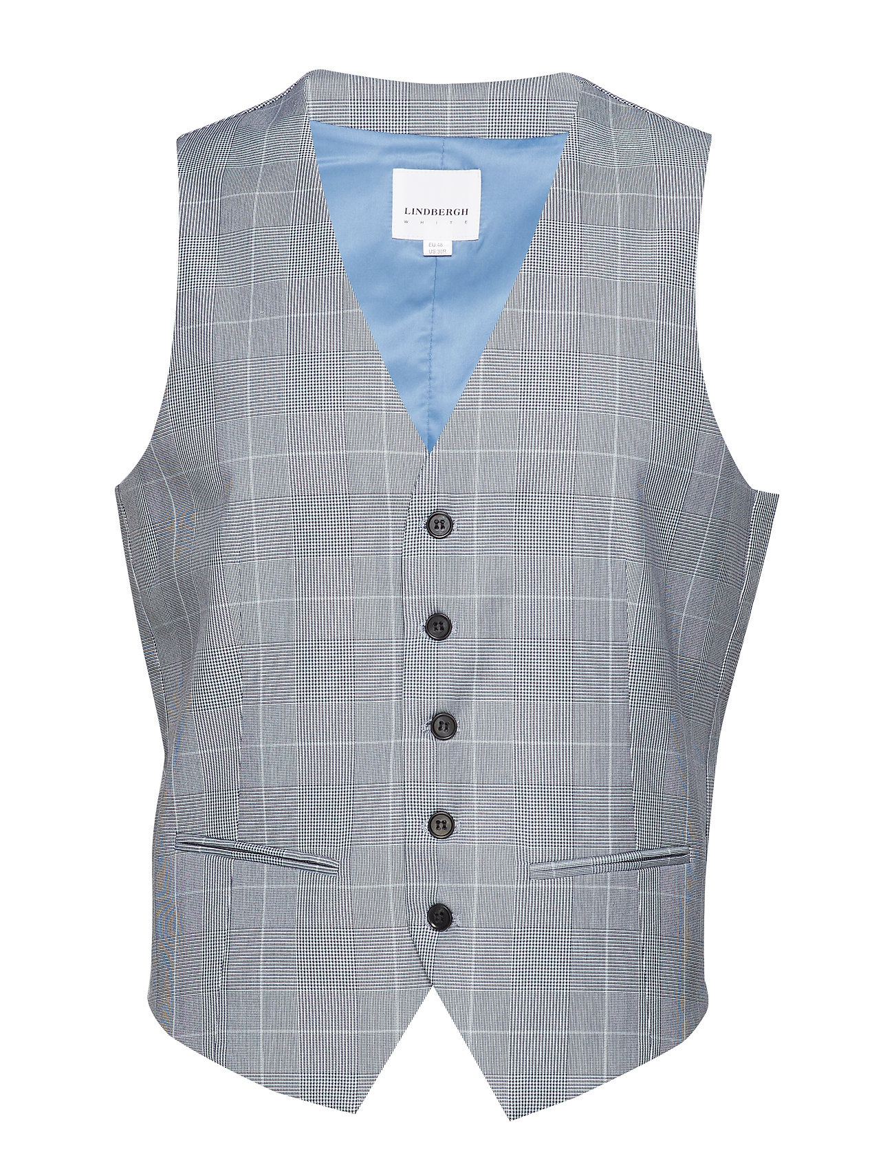 Lindbergh Waist coat for checked suit - BLUE CHECK