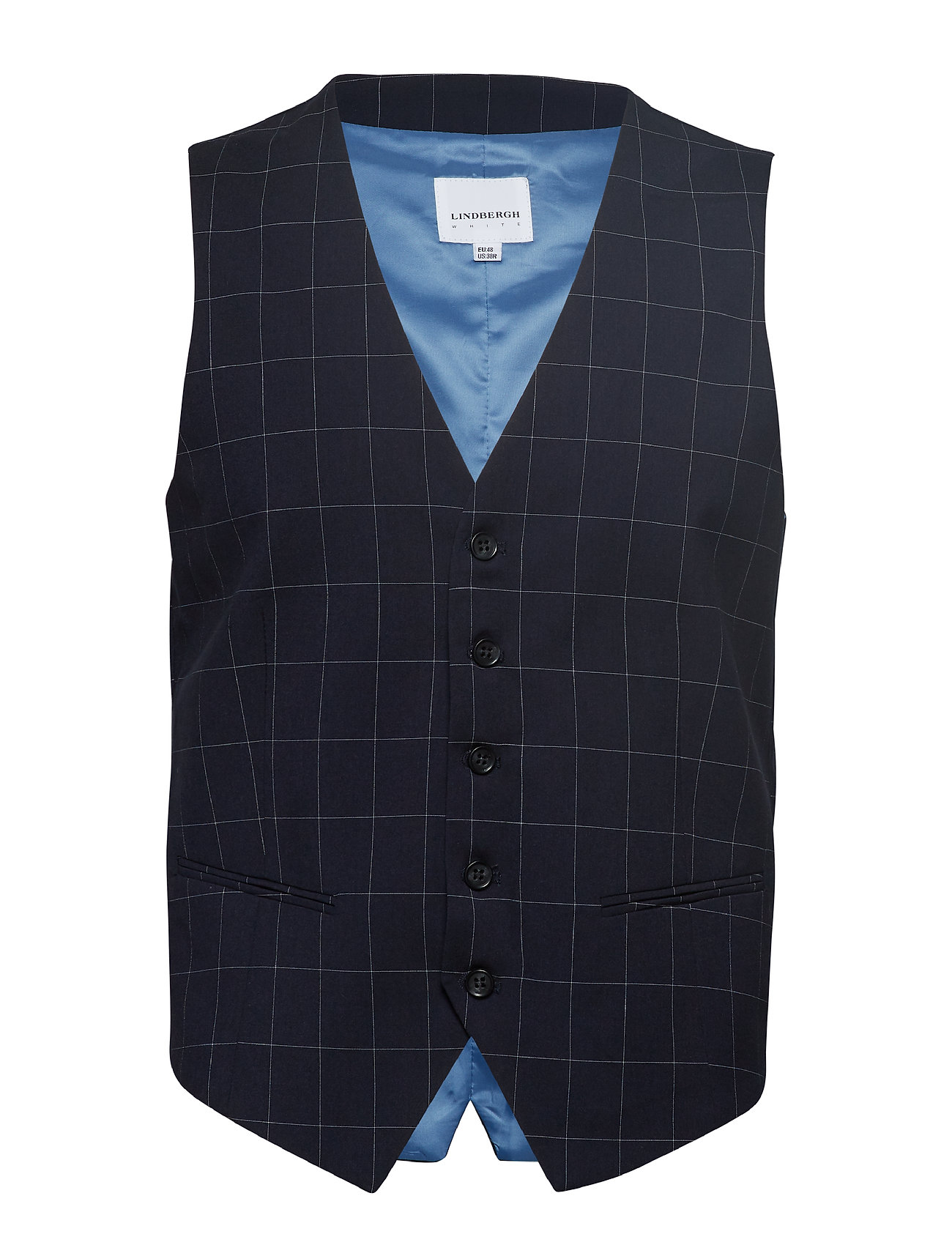 Lindbergh Waist coat for checked suit - NAVY CHECK