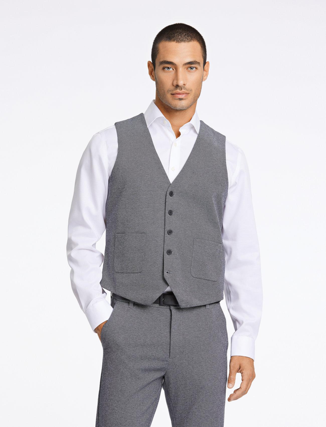 Lindbergh - Knitted waistcoat - waistcoats - grey mix - 0