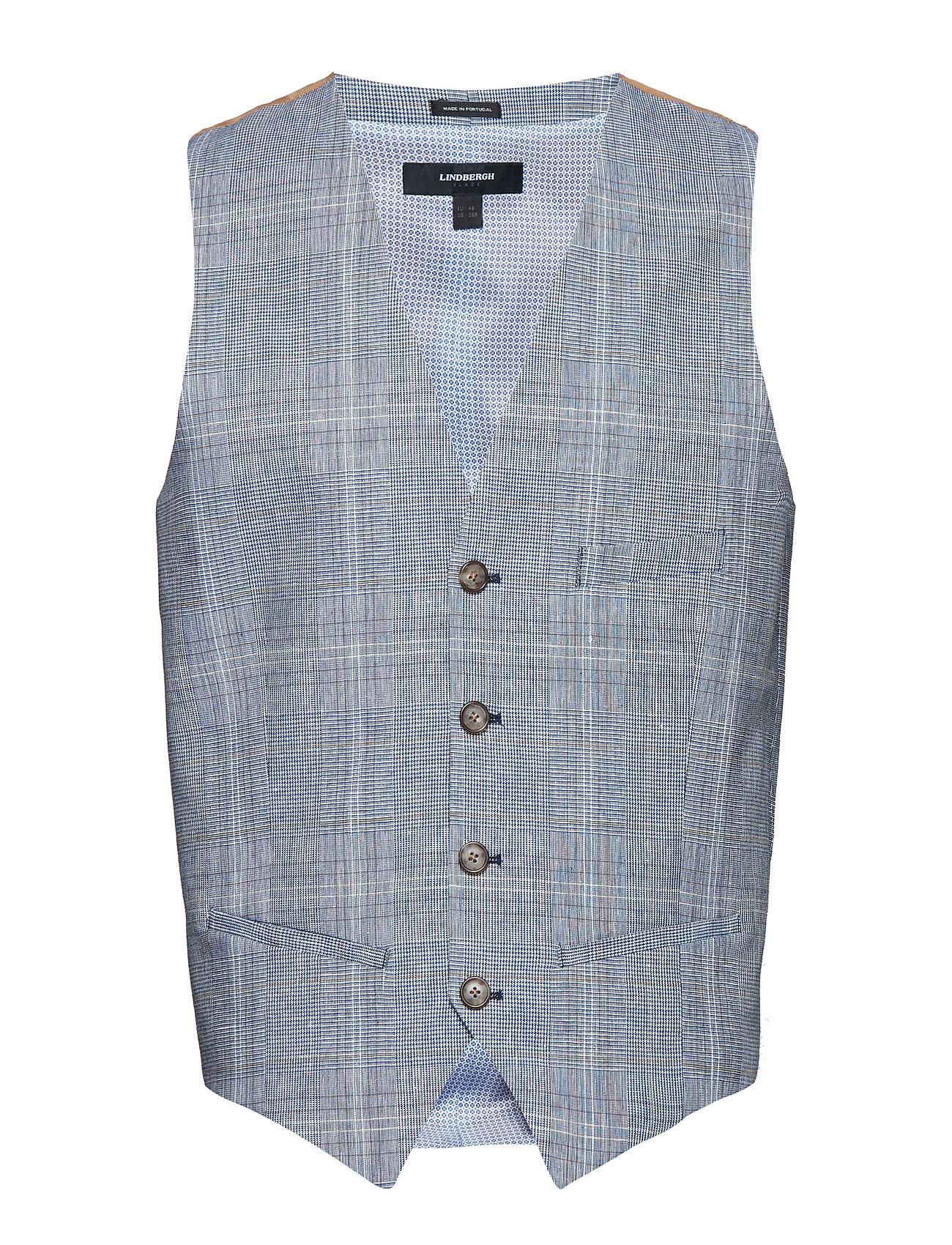 Lindbergh Check waistcoat - BLUE