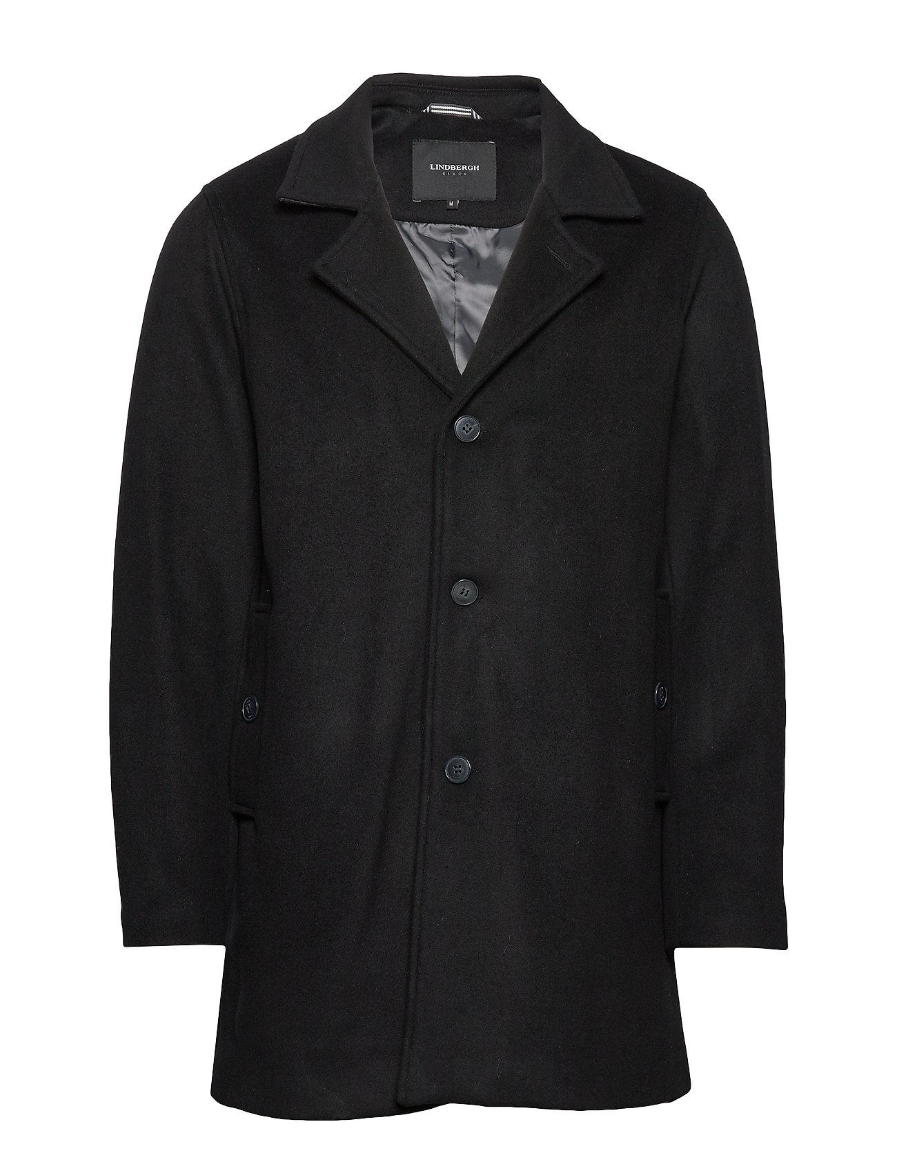 Lindbergh Melange wool coat - BLACK