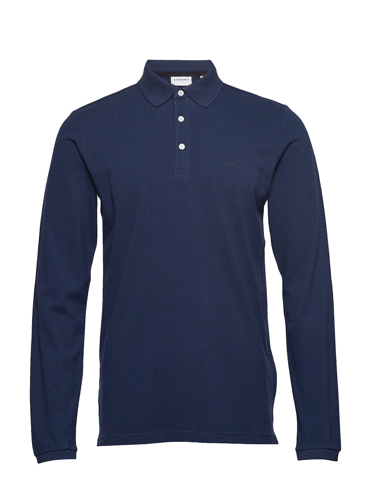 Lindbergh Polo shirt L/S - NAVY