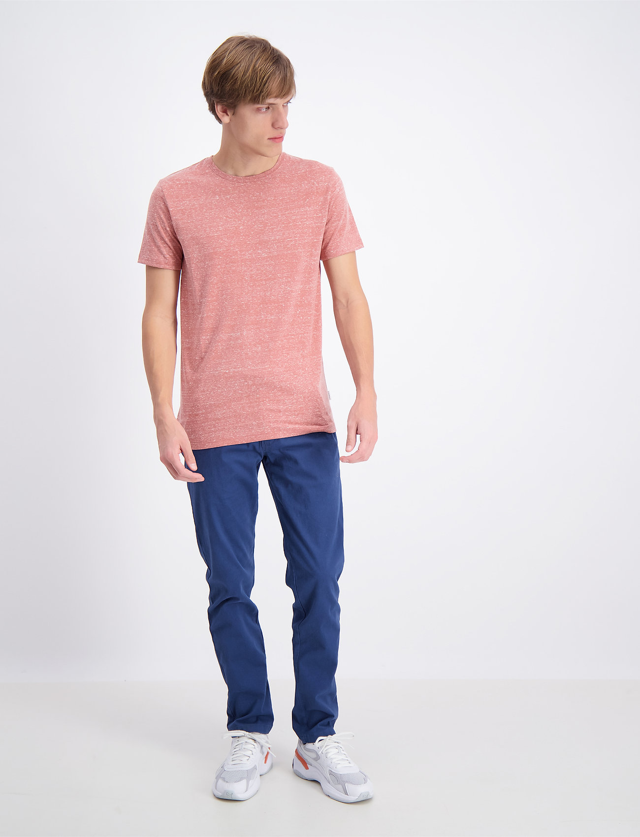 Lindbergh - Neps structure tee S/S - lyhythihaiset - dusty red - 0