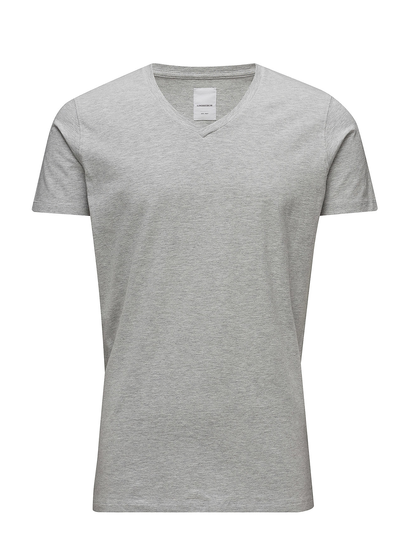Lindbergh Mens stretch v-neck tee s/s - GREY MEL