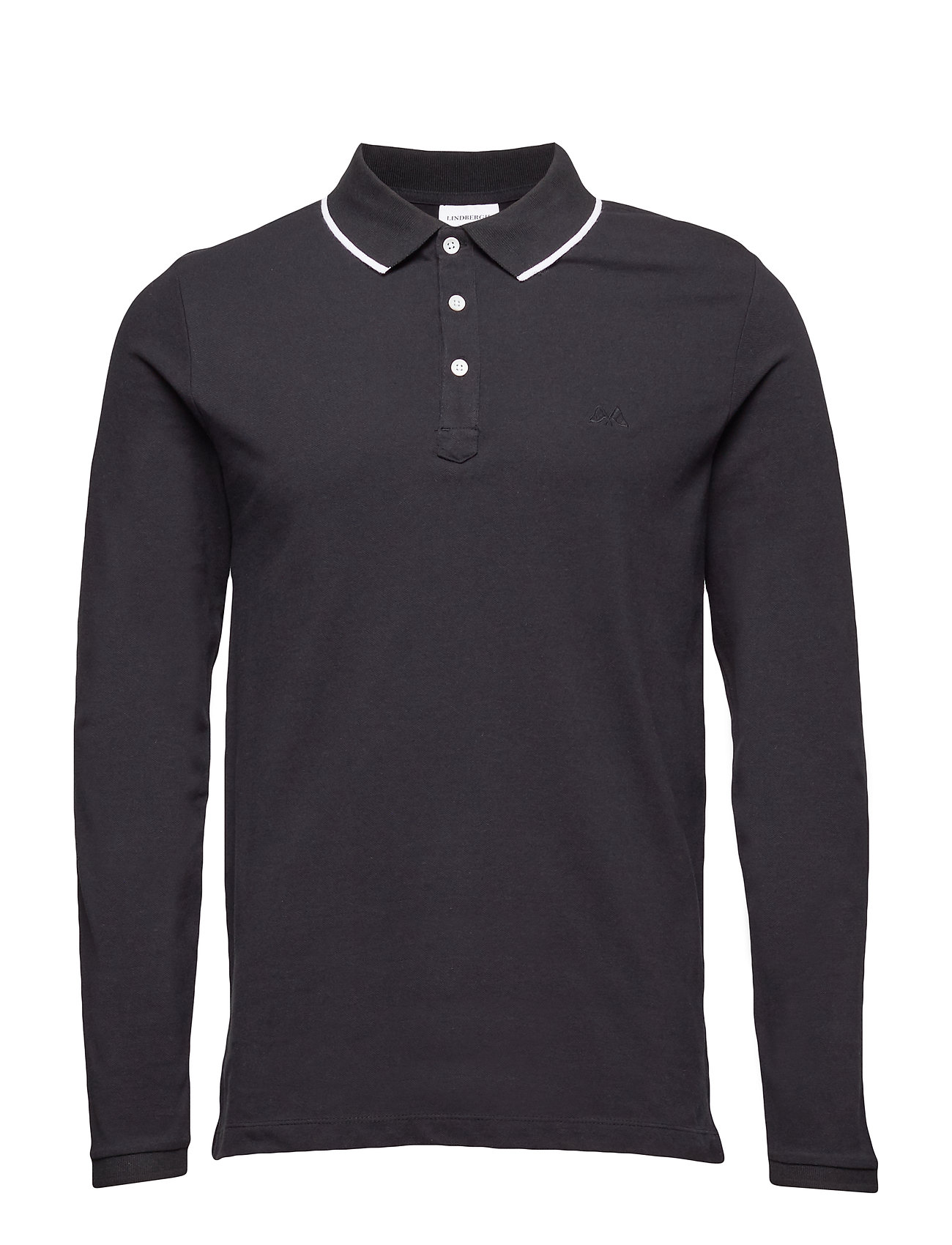 Image of Polo Shirt L/S Poloshirt Langærmet Sort LINDBERGH (3111743547)