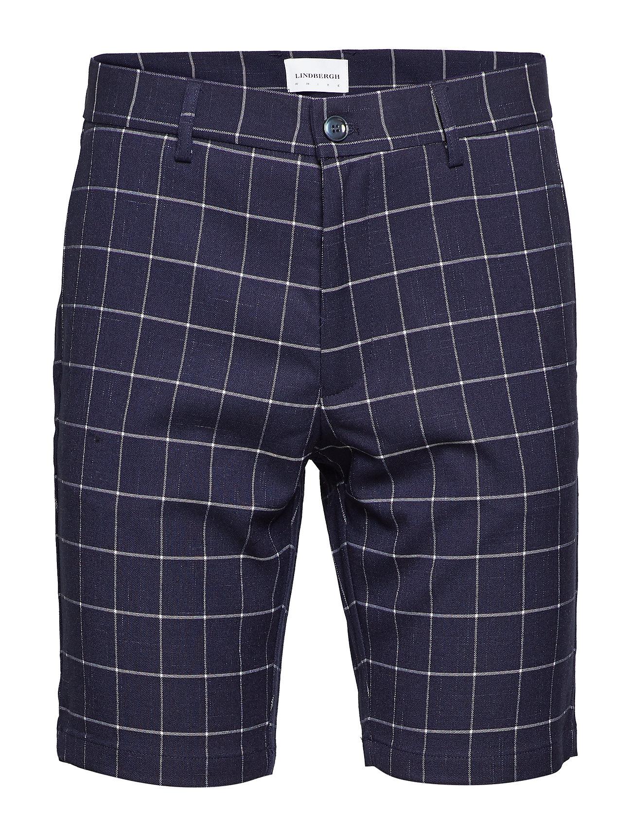 Lindbergh Checked shorts - DK BLUE