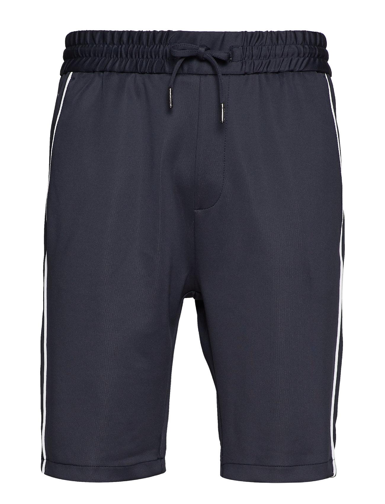 Lindbergh Track shorts w. piping - DK BLUE